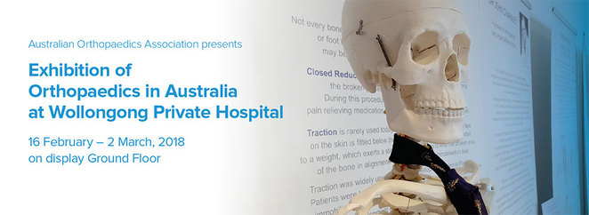 Bone and fracture exhibition Wollongong Private Hospital Foyer