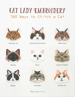 cat lady embroidery, embroider, craft books, craft with cats, stitching cats