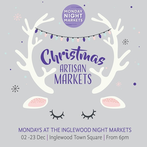 Christmas Artisan Markets, Inglewood on Beaufort, Christmas gifts, jewellery, arts and crafts, food stalls, street entertainment, pottery, paintings, herbal tea