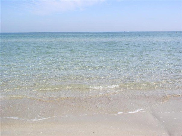 Clear water at Chelsea Beach