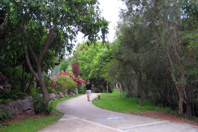 There are lots of paths around the suburbs Brisbane suburbs where you can walk