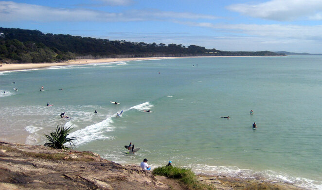 Cylinder Beach is the most popular spot for camping on North Stradbroke Island