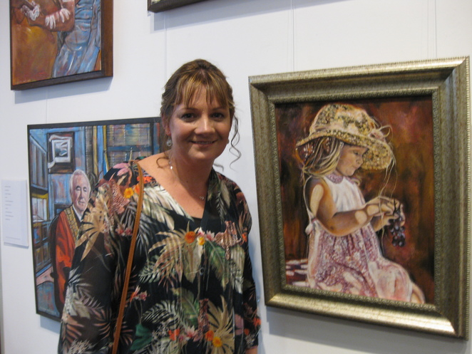 Donna Mitchell Emily painting Toowoomba Art Gallery