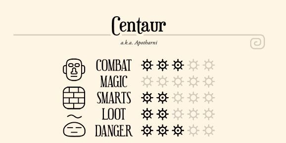 Dungeons and Dragons, Dungeons and Drawings, stats, monster stats, centaur