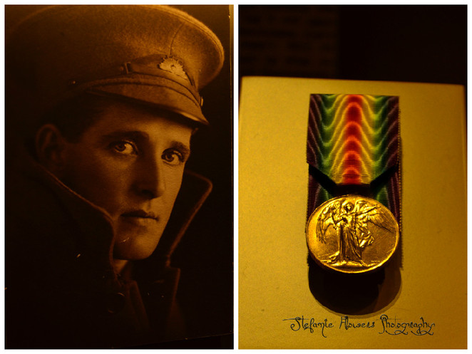Young soldier and a medal