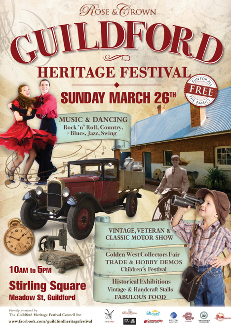 Guildford Heritage Festival, Rose and Crown, Perth Swing Dance Academy, Annies Vintage Wonderland, Annie Sloan Chalk Paint