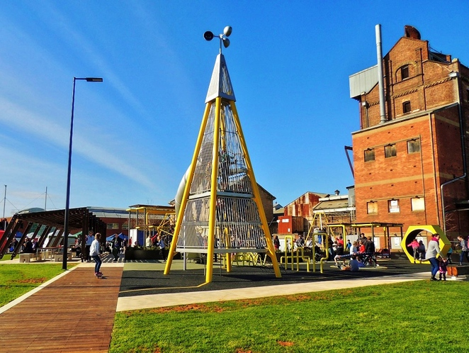 harts mill market, harts mill precinct, harts mill playground, harts mill, wild at heart market, port adelaide inner harbour, port adelaide loop path, play equipment, activities for kids, adelaide milling company