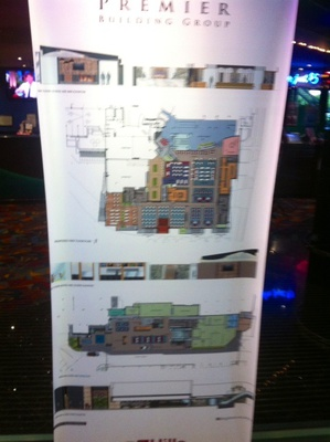 A poster of the planned renovations that will soon be completed