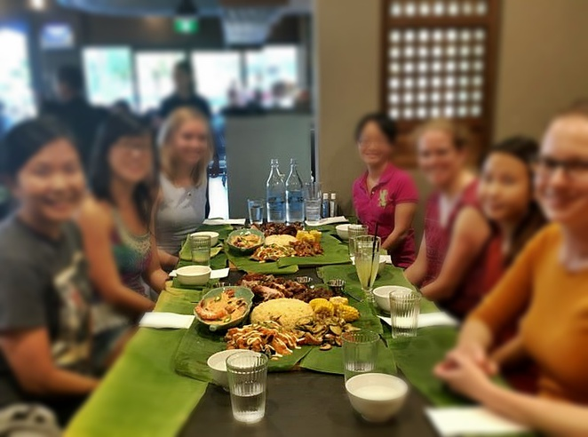 kusina, boodle feast, canberra, ACT, weston creek, filipino food, cooleman court, asian, kids eat free, boodle feast