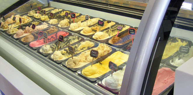 Lick! has a wonderful selection of ever changing ice cream flavours