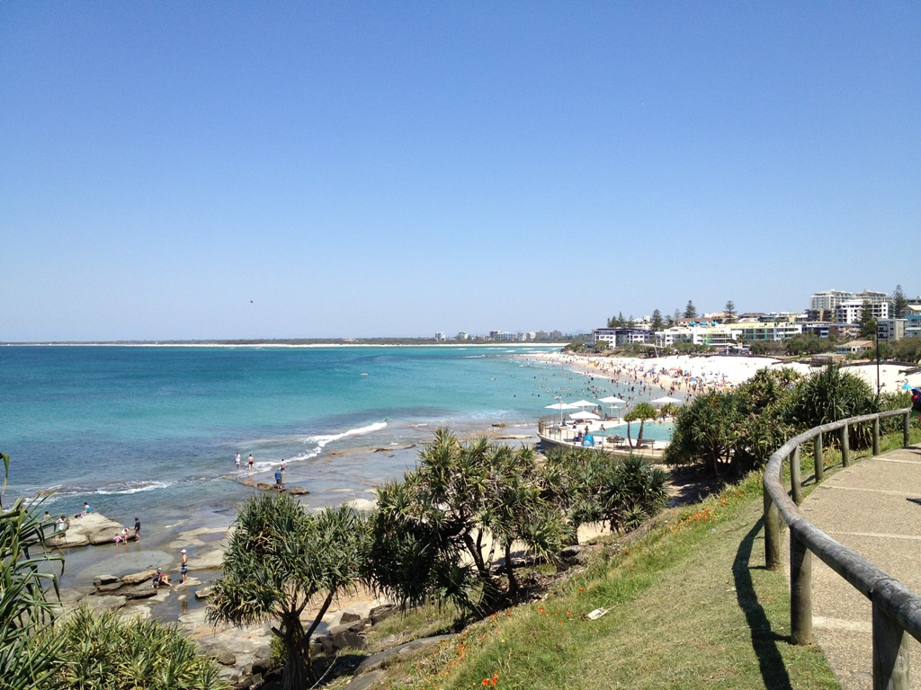 Looking Towards Kings Beach From The Nearby Headland