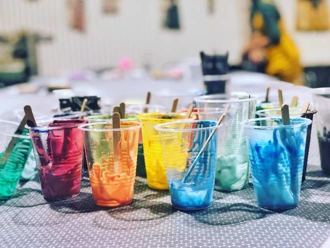 Mixing the colours