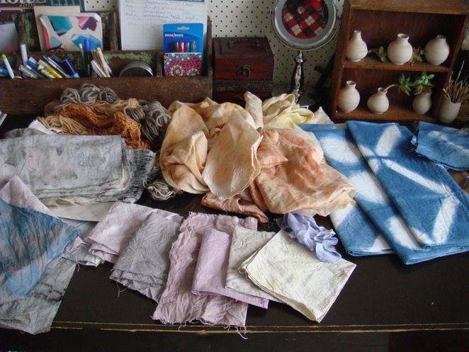Natural fabric dyeing and Shibori workshop