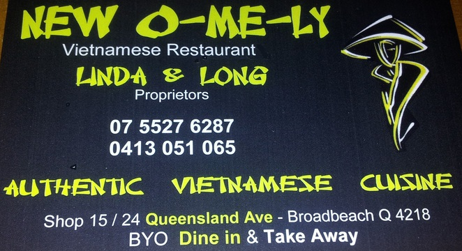 O-Me-Ly, o me ly, o me li, vietnamese, restaurant, broadbeach, saigon, noodle soup, authentic, asian,
