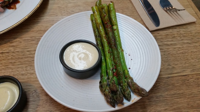Perfect asparagus grilled spears