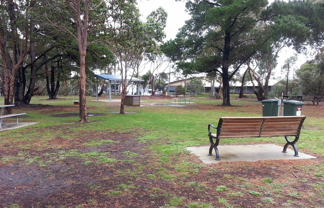 Picnic tables, barbecues, ocean grove