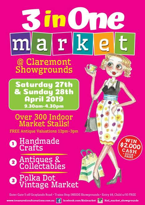 polka dot vintage market 2019, claremont showgrounds, market stalls, stall holders, shopping vintage, mulberry tree vintage, premium antiques, vintage, retro, craft market, cafes, door prize, vintage lovers, community event, fun things to do, family friendly