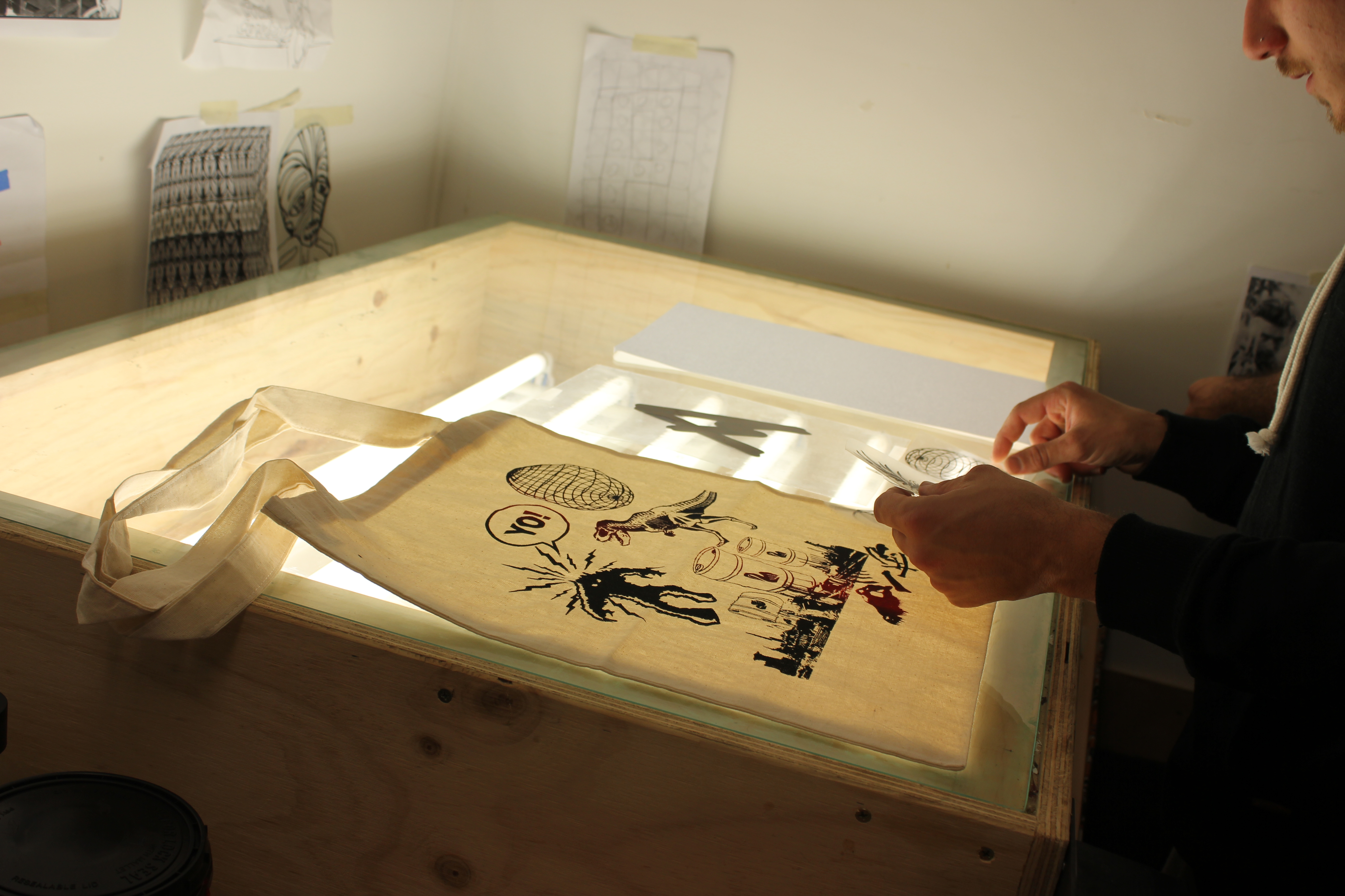 screen printing workshops kids school holidays and adult