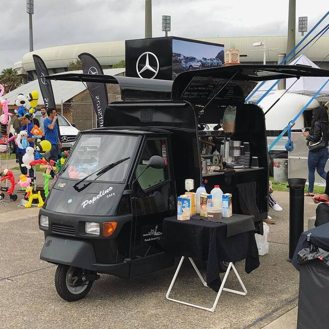 popelino cart, little marionette coffee, eastern suburbs markets, rose bay markets