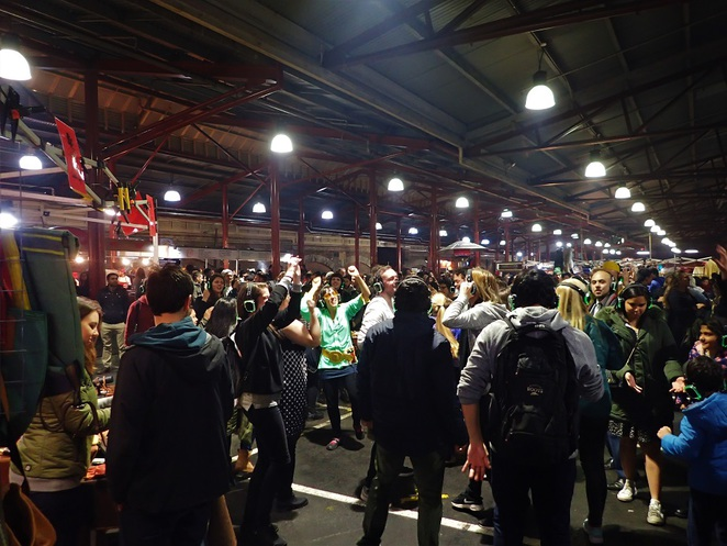 qvm winter night market melbourne