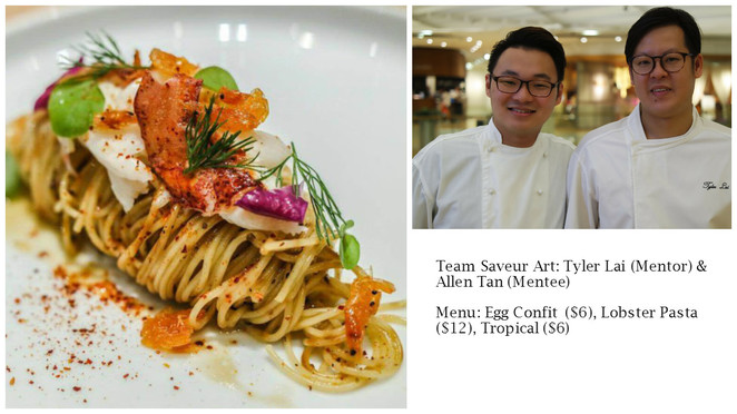 Savour 2016, DBS Live Dream, Singapore gourmet, Food Festival, Saveur Art, Tyler Lai, Allen Tan