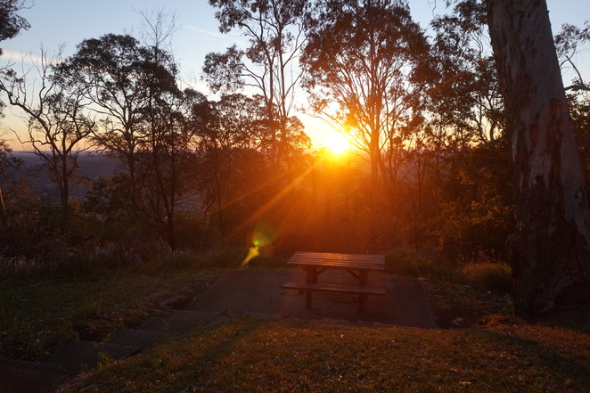 Sunrise at Jolly's Lookout