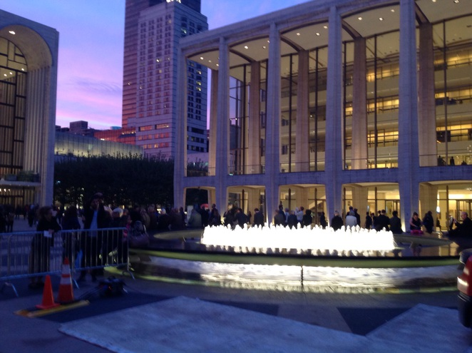 The Lincoln Center New York ballet sunset