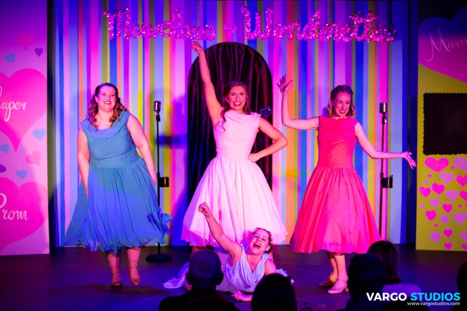 the Marvelous Wonderettes, Spotlight Theatre, musical theatre, Roger Bean, Katie Grace, songs of the 50s & 60s, prom night, 1950s music, 1960s music