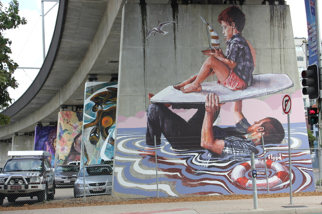 The Pillars, Street Art Gallery, outdoor art gallery, South Brisbane, Art, murals,