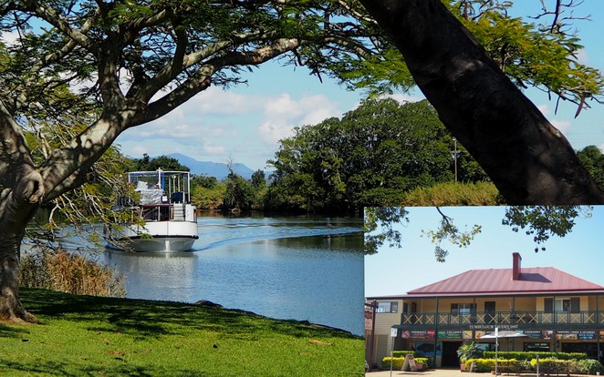 Tumbulgum, Murwillumbah, tavern, dinner, coffee, lunch, Tweed River, day out, Mt Warning,
