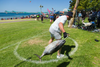 Tuna toss competition