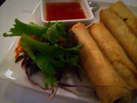 Vegetarian Spring Rolls @ Thai House