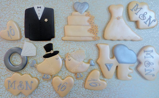 wedding cookies, wedding favours