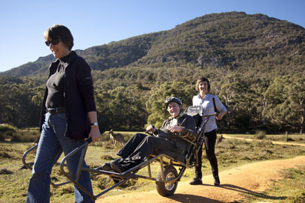 wheelchair, the grampians, access, bushwalks, walks, travel, volunteering
