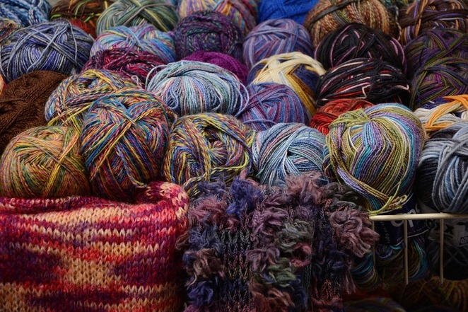 Wool, spinning, colour dying, knitting, crochet