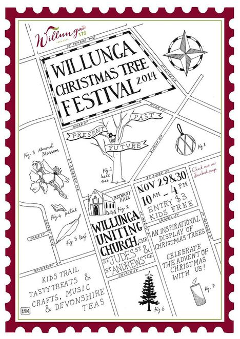 The 2014 Festival poster, featuring a map of Willunga