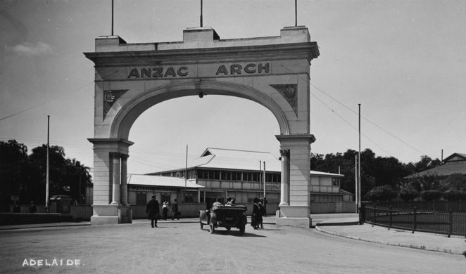 adelaide firsts, first in adelaide, first in australia, state library sa, south australia, in adelaide, in australia, anzac arch