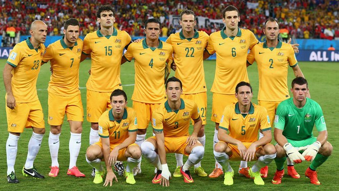 Australia line up for a team photo
