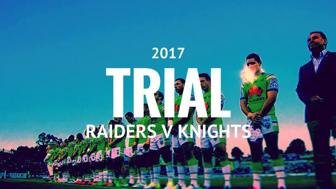 Canberra Raiders - trial match - rugby league