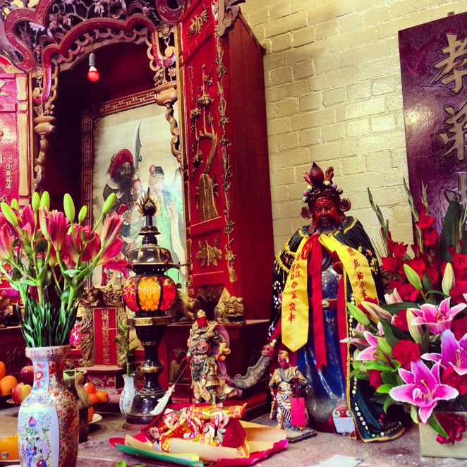 chinese, temple, sze, yup, glebe, sydney, exotic, cultural, spiritual, candle, flowers, fruit, offerings, deities, god, buddha, prayer