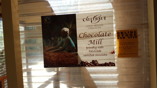 Chocolate Mill uses Fair Trade certified chocolate