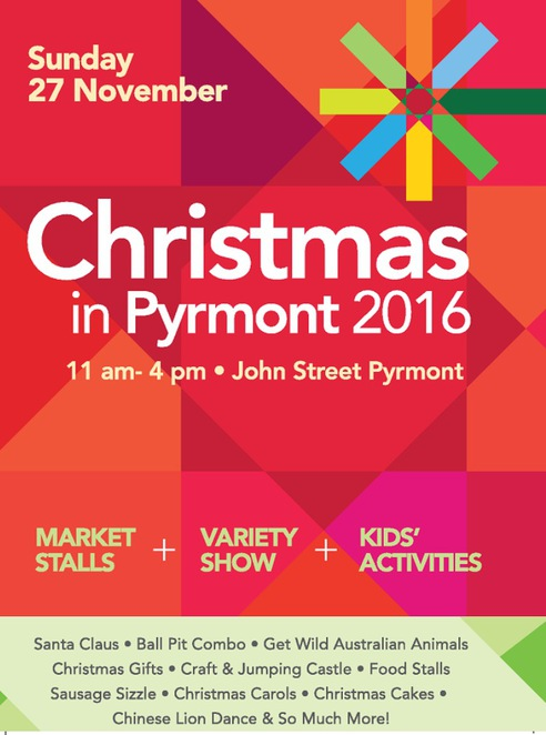 Christmas shopping, Christmas in Pyrmont, Christmas music, Christmas markets, local community, Pyrmont, Lilbusgirl, cheap and free things to do, Christmas activities, Pyrmont Community Centre, City of Sydney, Christmas market, fun for kids, free,