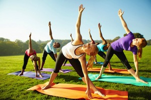 Corporate Group Yoga Class