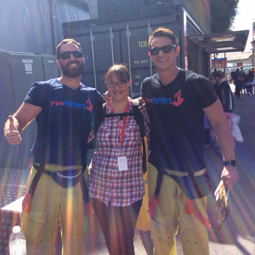 Ekka fire fighters