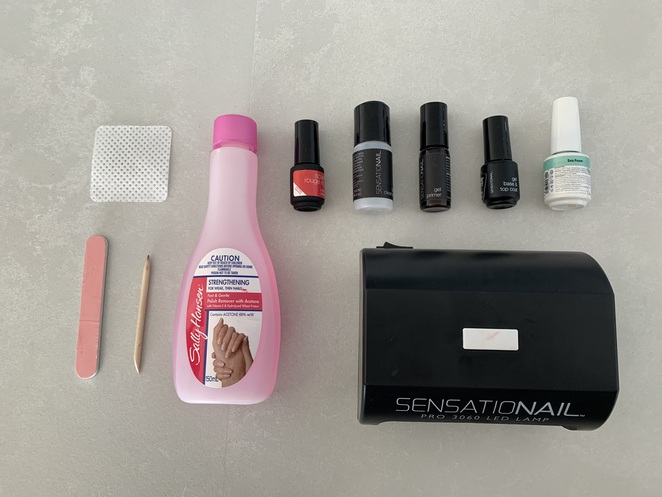 Everything you'll need for your at-home-gel-manicure!