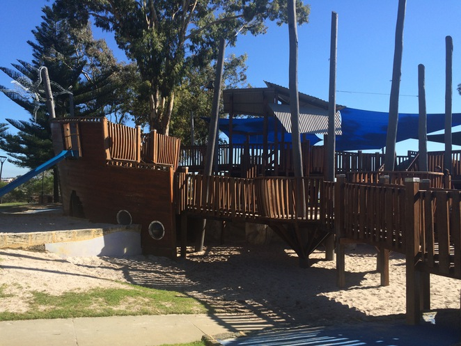 Heathcote Reserve, Pirate Ship Playground, Applecross, Quirky playgrounds