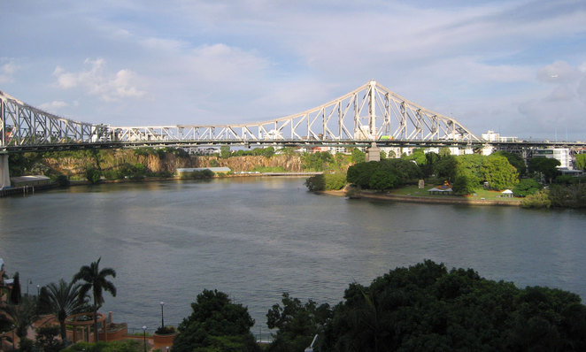 The view of The Story Bridge and The Brisbane River