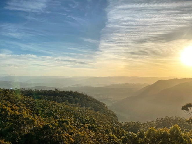 hydro majestic, megalong valley, valley view, mountains, blue mountains