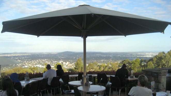 The Kuta Cafe at the Mt Coot-tha Lookout is a great place to enjoy some coffee and cake after a walk
