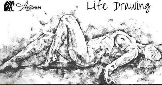 life drawing classes, arthouse hotel, attic bar, art classes